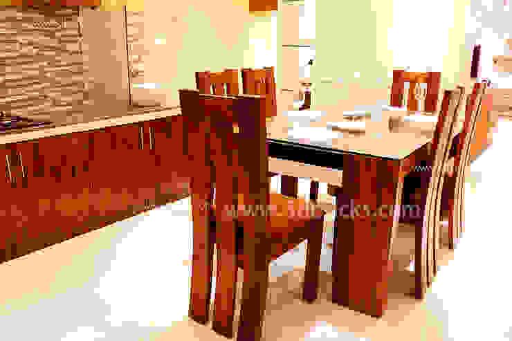 Salas de jantar modernas por 3DBricks Moderno