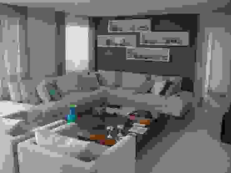 Apartamento residencial - The Gift Salas de estar modernas por Benassi & Seppe Moderno
