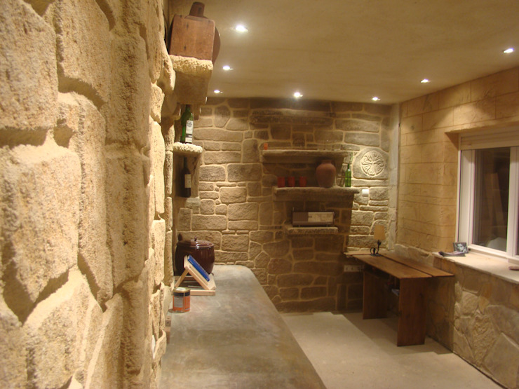 LuisyAnacb Rustic style kitchen Limestone Beige