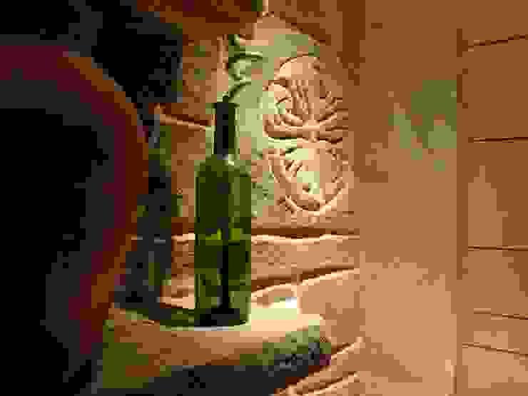 LuisyAnacb Rustic style wine cellar Limestone Grey