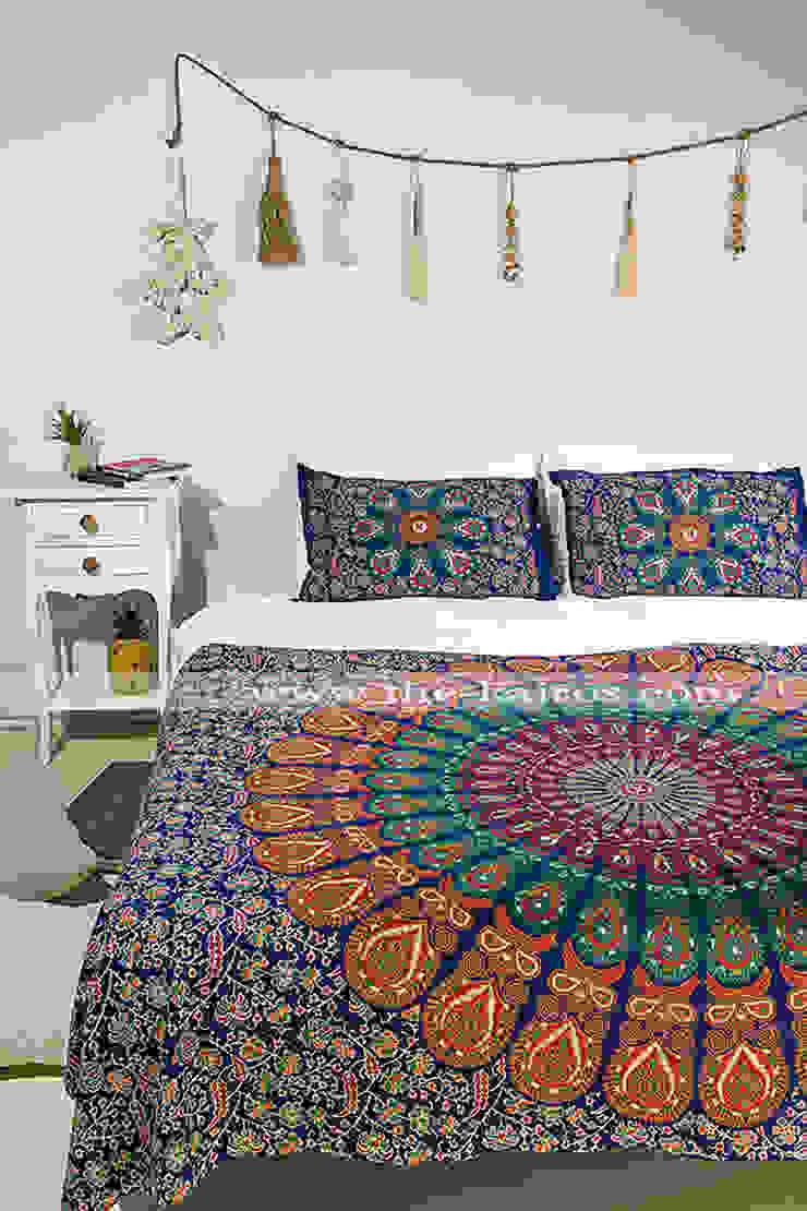 Sita Twin Size Bedspread/Throw/Tapestry THE KAIROS Rustik Pamuklu Kırmızı