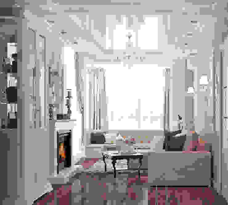 Уютная гостиная в неоклассическом стиле Гостиная в классическом стиле от Студия дизайна Interior Design IDEAS Классический