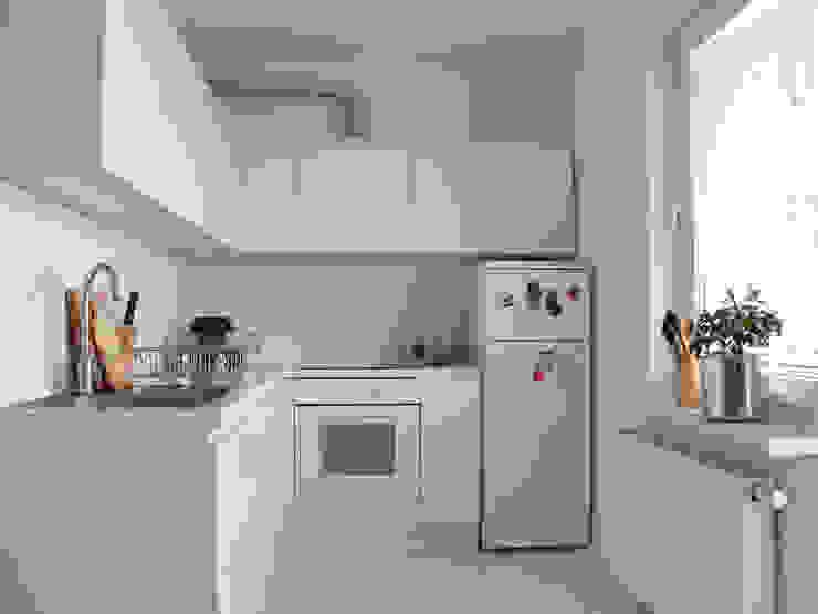 SIERPIŃSKIEGO Minimalistyczna kuchnia od Małgorzata Gilarska Architekt Minimalistyczny