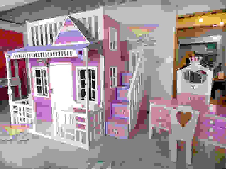 HERMOSA CASITA CELESTIAL Y TOCADOR de camas y literas infantiles kids world Clásico Derivados de madera Transparente