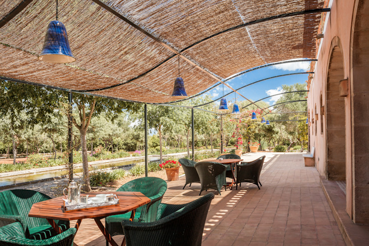 Son Doblons Luxury Villa Giardino in stile mediterraneo di Studio Vetroblu_Stefano Ferrando Mediterraneo