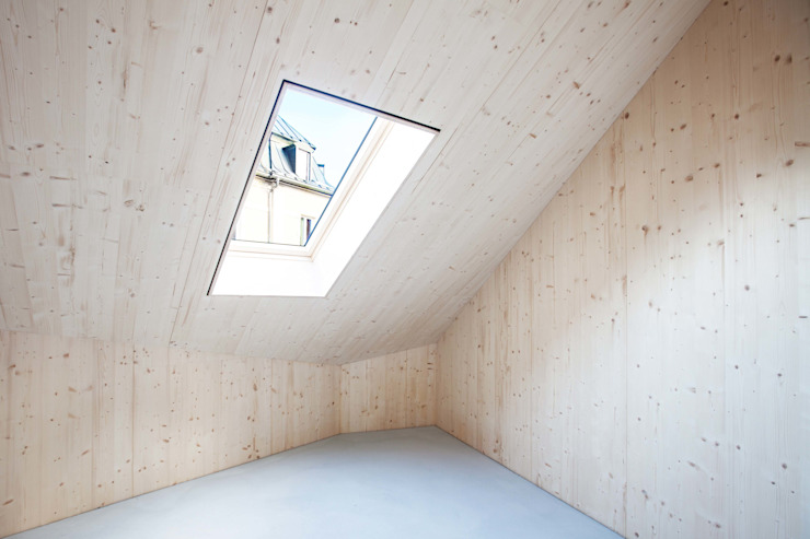 Paredes de estilo  por Studio für Architektur Bernd Vordermeier , Minimalista Madera Acabado en madera