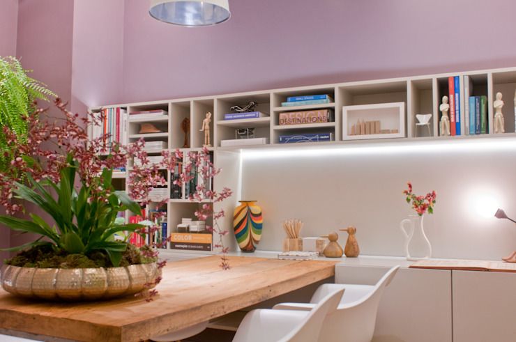ESCRITÓRIO 70M² Espaços comerciais modernos por Elisa Vasconcelos Arquitetura Interiores Moderno