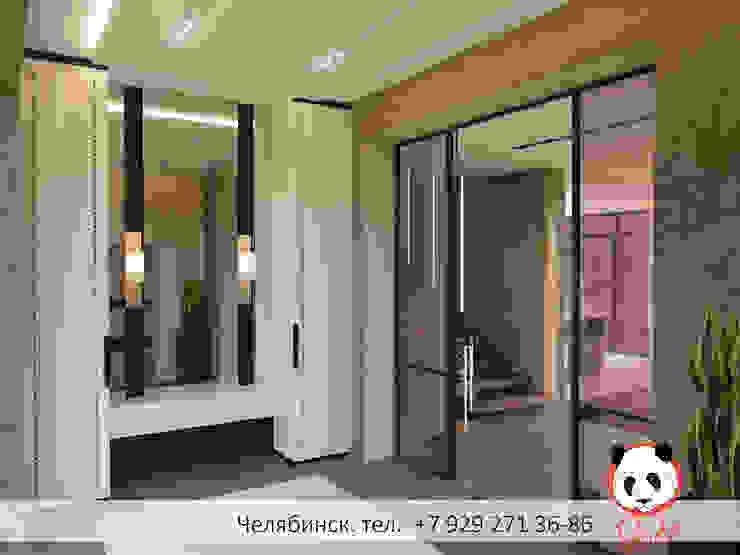 Modern private house Minimalist corridor, hallway & stairs by Panda Studio Minimalist