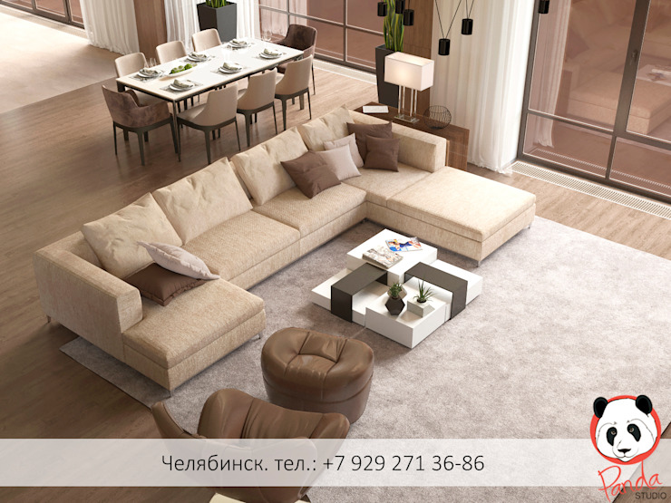 Modern living room Minimalist living room by Panda Studio Minimalist Wood Wood effect