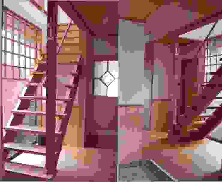 階段 玄関 オリジナルスタイルの 玄関&廊下&階段 の 竹内村上ATELIER オリジナル