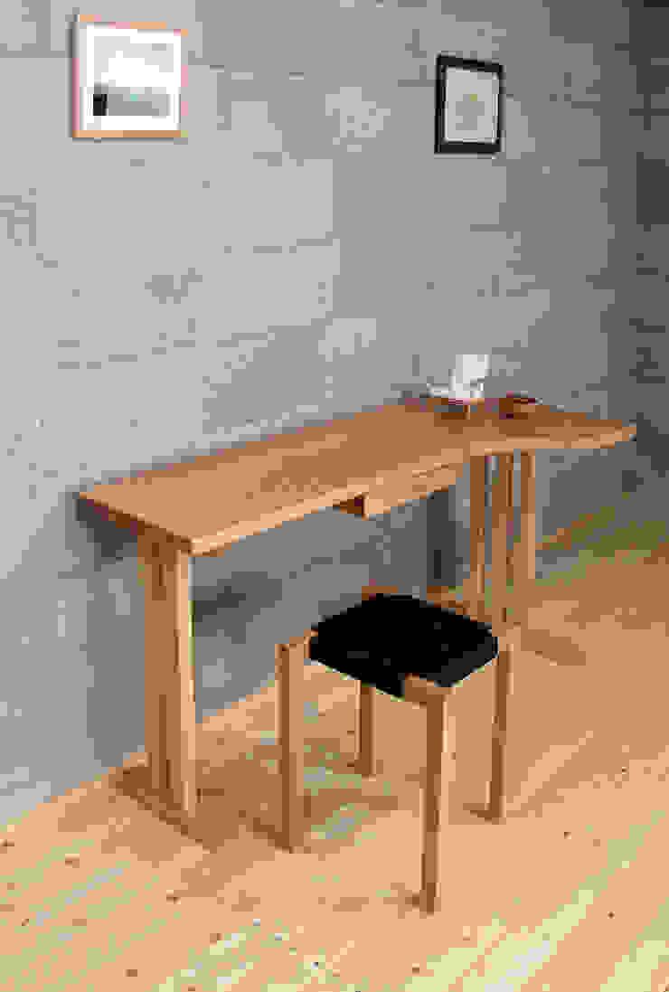 ライトデスク: 家具木工 みずき工房が手掛けた折衷的なです。,オリジナル 木 木目調