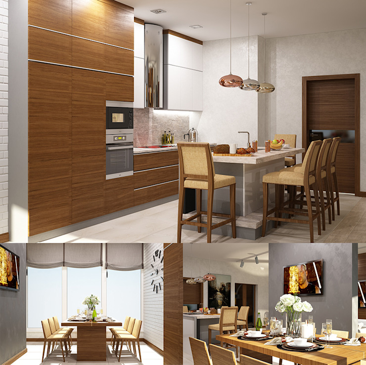 Interiors Кухня в стиле лофт от Мастерская дизайна INDIZZ Лофт