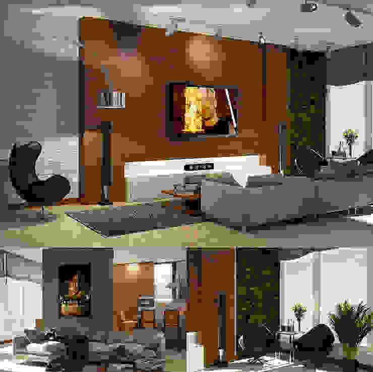Interiors Гостиная в стиле лофт от Мастерская дизайна INDIZZ Лофт