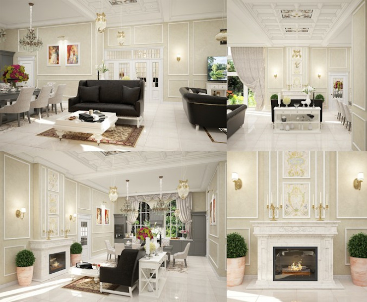 Interiors Гостиная в классическом стиле от Мастерская дизайна INDIZZ Классический