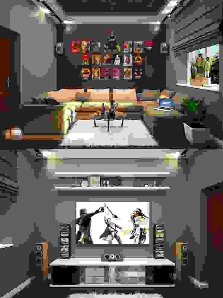 Interiors Медиа комната в классическом стиле от Мастерская дизайна INDIZZ Классический