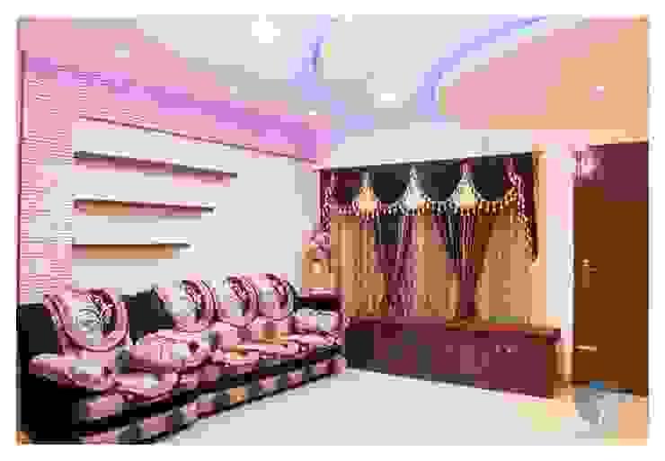 LIVING ROOM Modern living room by IN-CUBE STUDIO Modern Plywood