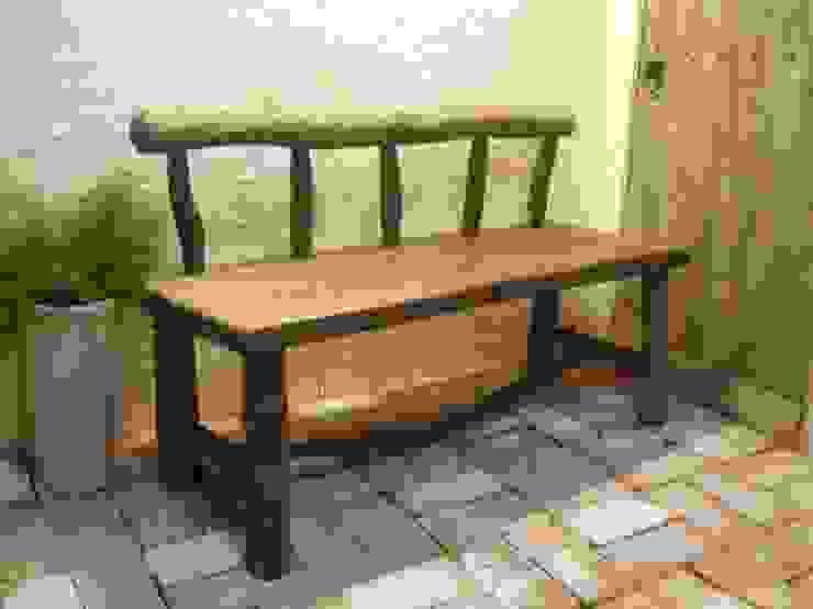 流木ベンチ: 流木専門店 海の木が手掛けた素朴なです。,ラスティック