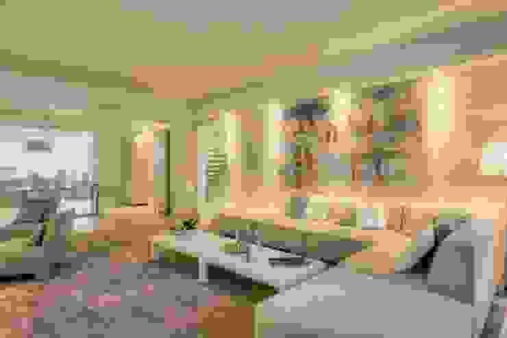 QUINTA DO MILHARÓ: Sala de estar  por ALMANCIL 4 - Decorações, Lda ,