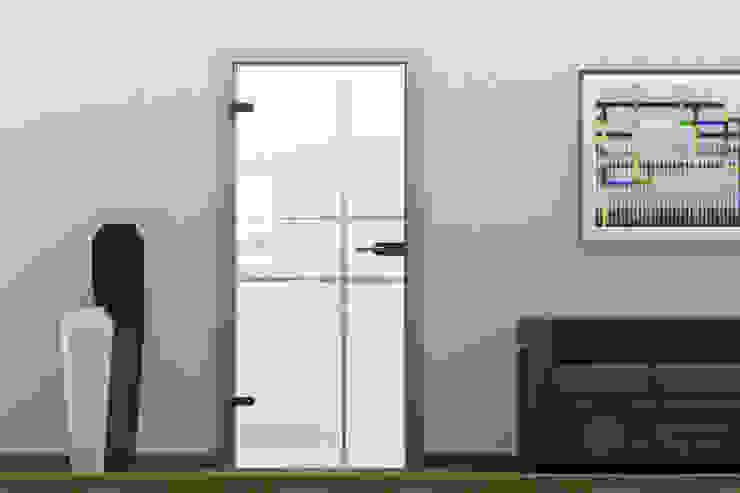 Ganzglastür Komplettset - BGP-1601-G homify Fenster & TürTüren Glas Weiß