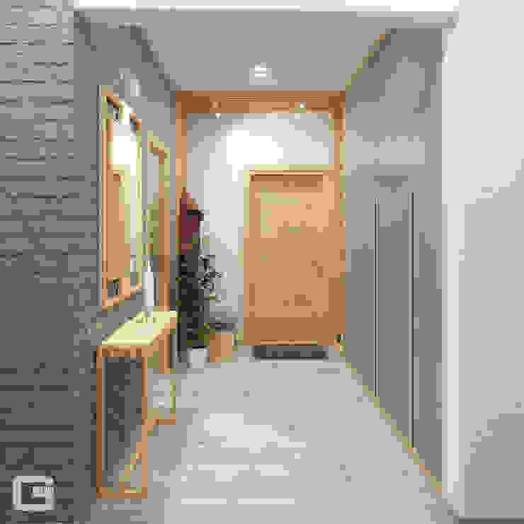 Giovani Design Studio Scandinavian style corridor, hallway& stairs