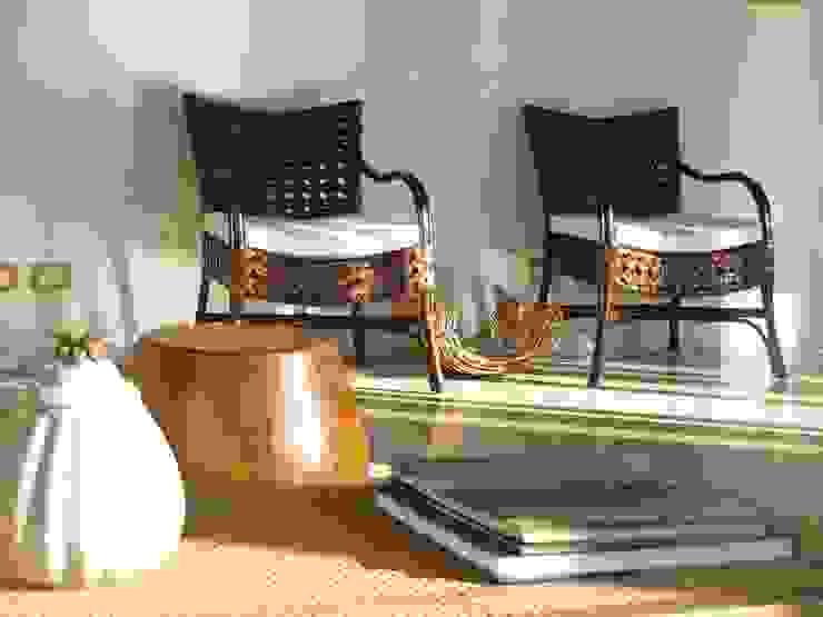 Casa de Campo - Atibaia - SP Salas de estar rústicas por Studio LK Arquitetura e Interiores Rústico