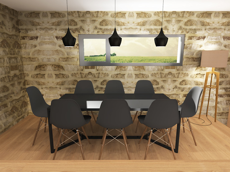 Aménagement & décoration d'une maison - Strasbourg Ektor studio Salle à manger scandinave