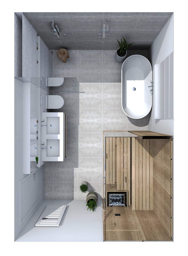 Ektor studio Scandinavian style bathrooms