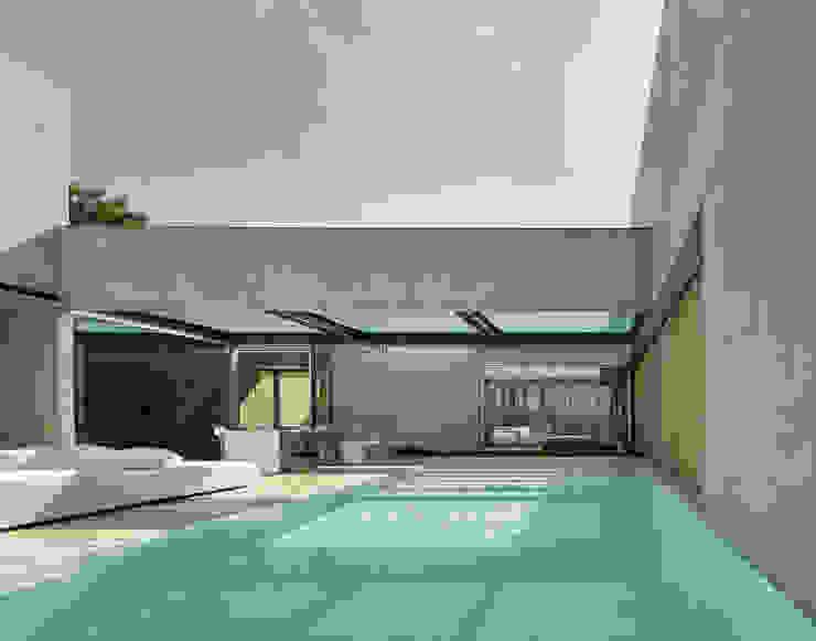Piscinas de estilo mediterráneo de guedes cruz arquitectos Mediterráneo Concreto