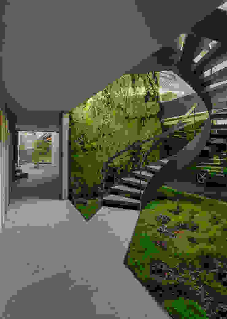 Pasillos, vestíbulos y escaleras de estilo minimalista de guedes cruz arquitectos Minimalista