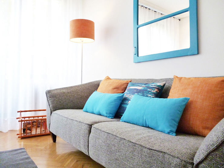 Sala comum Salas de estar mediterrânicas por maria inês home style Mediterrânico
