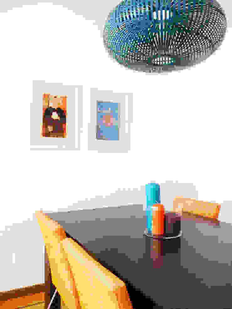 Sala comum Salas de jantar mediterrânicas por maria inês home style Mediterrânico