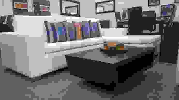 sofa L de LA CORTINERIA Moderno Textil Ámbar/Dorado
