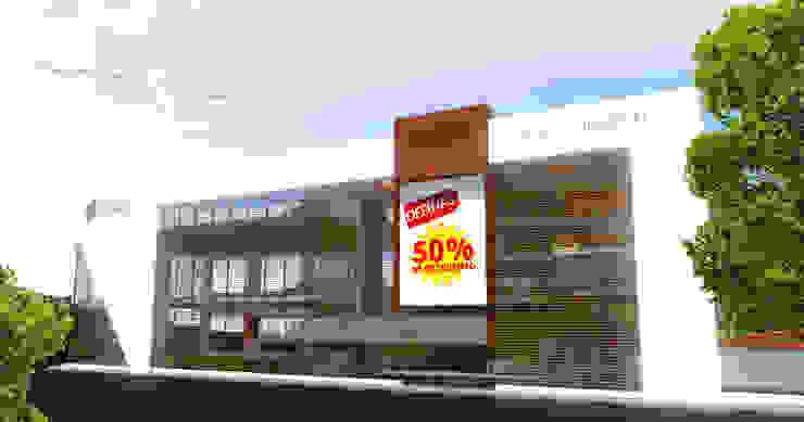 Торговые центры в . Автор – Jorge Osorio Arquitecto, Модерн Дерево Эффект древесины
