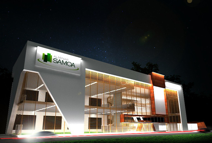 Centro comercial de Jorge Osorio Arquitecto Moderno Madera Acabado en madera