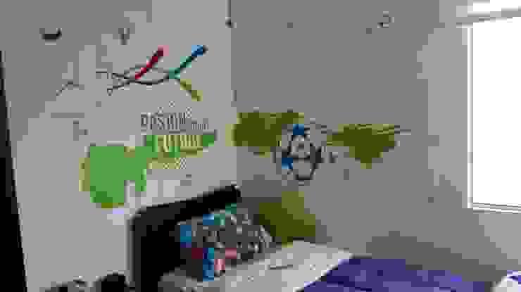 Pasión por el futbol Habitaciones modernas de Flap deco Moderno Plástico
