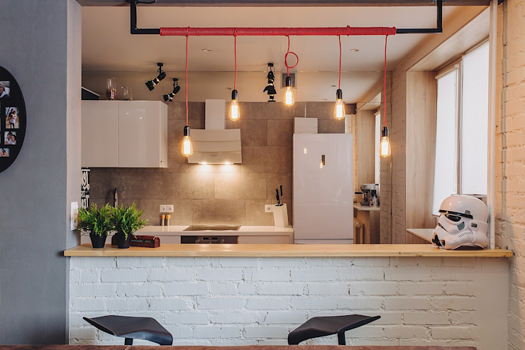 Industrial style kitchen by Студия Антона Сухарева 'SUKHAREVDESIGN' Industrial