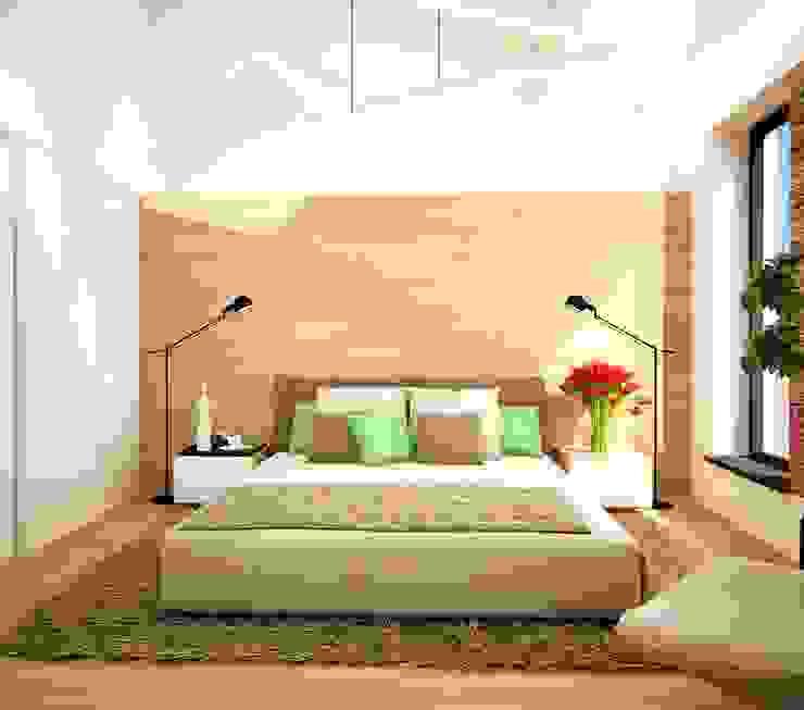 Dormitorios eclécticos de ООО 'Студио-ТА' Ecléctico