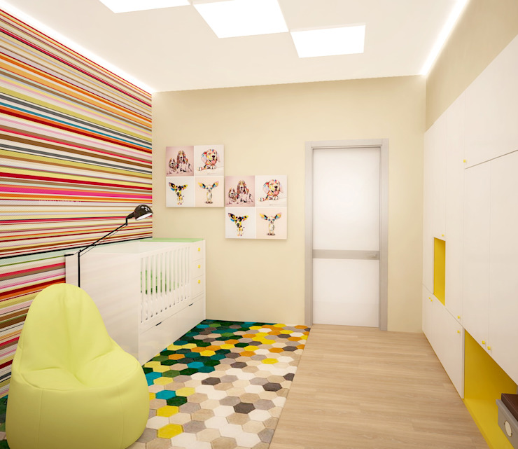 Eclectic style nursery/kids room by ООО 'Студио-ТА' Eclectic