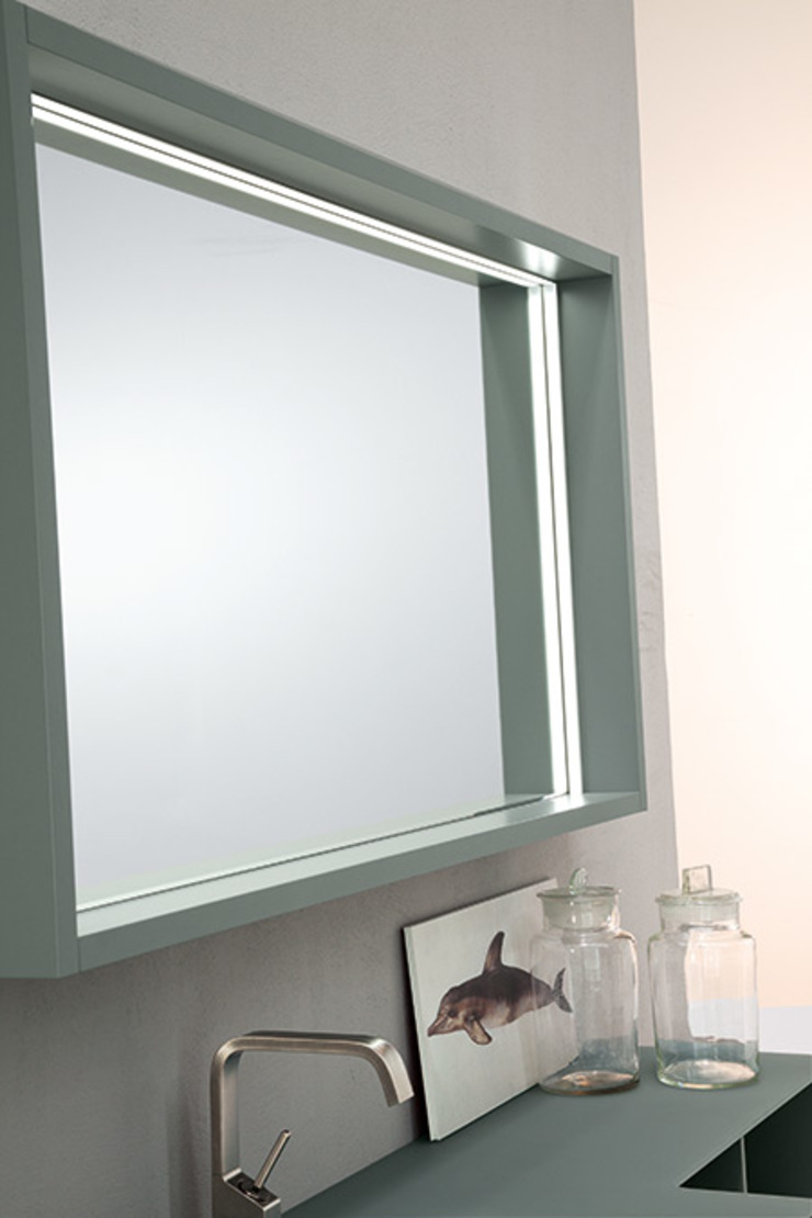 Mastella Design Minimalist bathroom MDF Wood effect