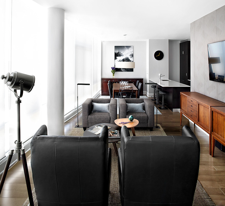 ANNA DUVAL Modern living room Grey