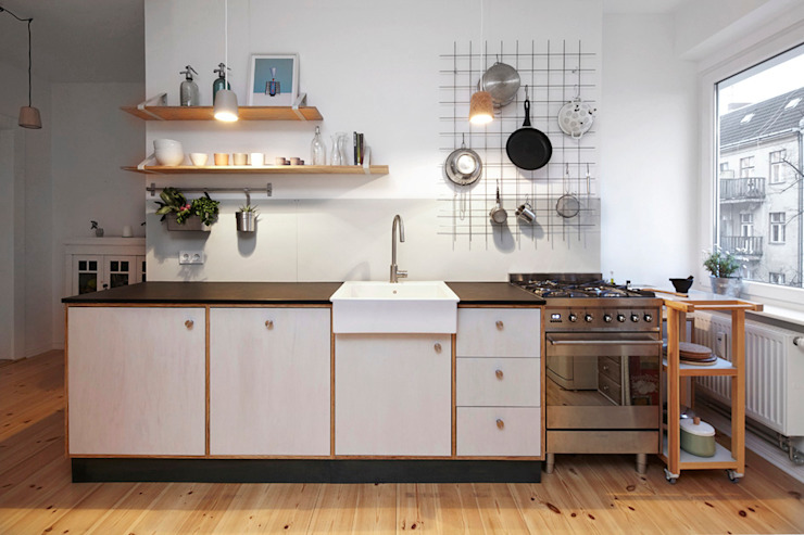 Happyhomes Kitchen Wood Grey
