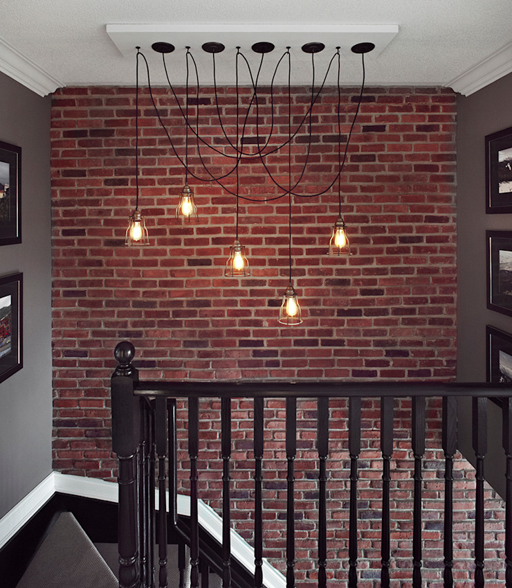 Eclectic style corridor, hallway & stairs by ANNA DUVAL Eclectic