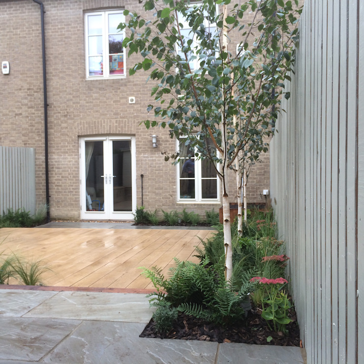 Small town garden Jardin moderne par homify Moderne