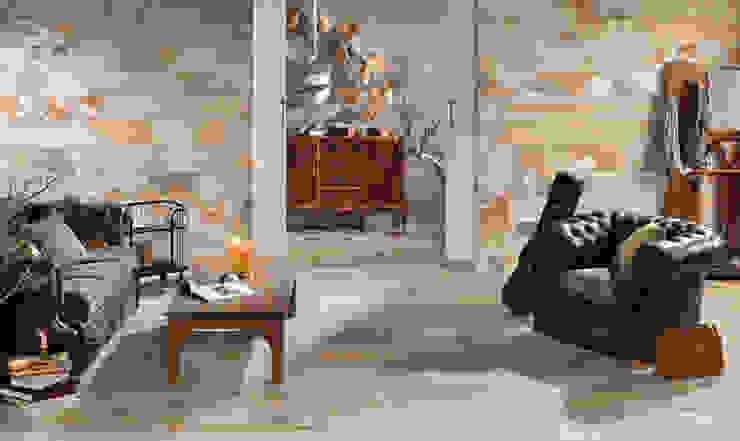Płytki drewnopodobne Peronda Seawood Kolonialny salon od Kolory Meksyku Kolonialny