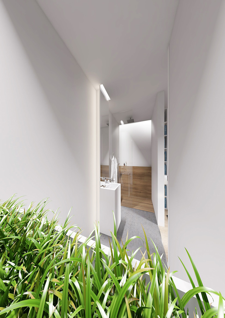 PENTHOUSE 23 Modern Corridor, Hallway and Staircase by Who Cares?! Design Modern