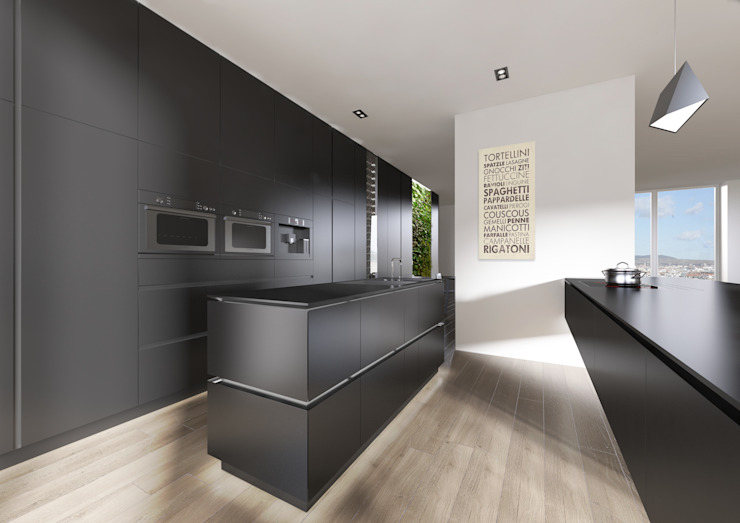 PENTHOUSE 23 Modern Kitchen by Who Cares?! Design Modern