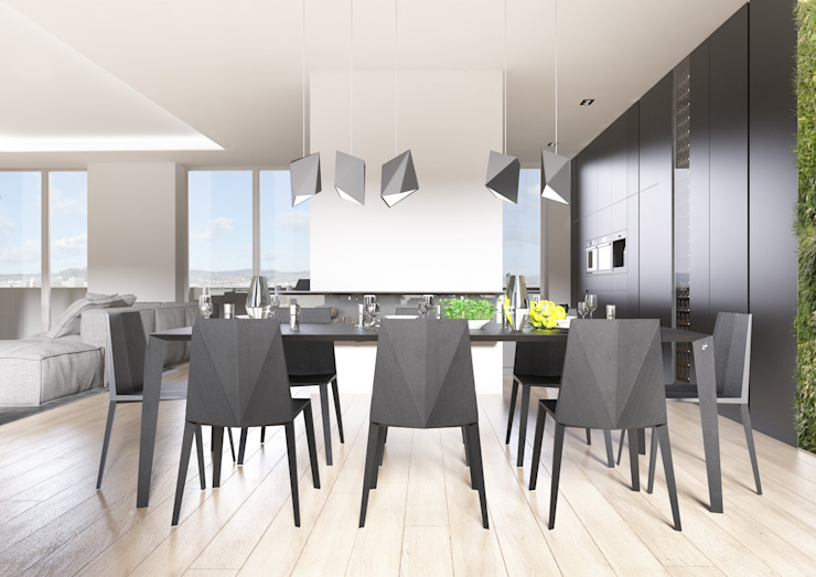 PENTHOUSE 23 Modern Dining Room by Who Cares?! Design Modern