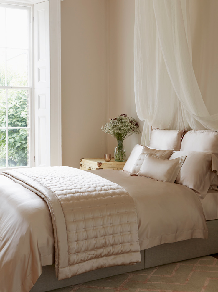 Nude silk bed linen: classic  by Gingerlily, Classic Silk Yellow