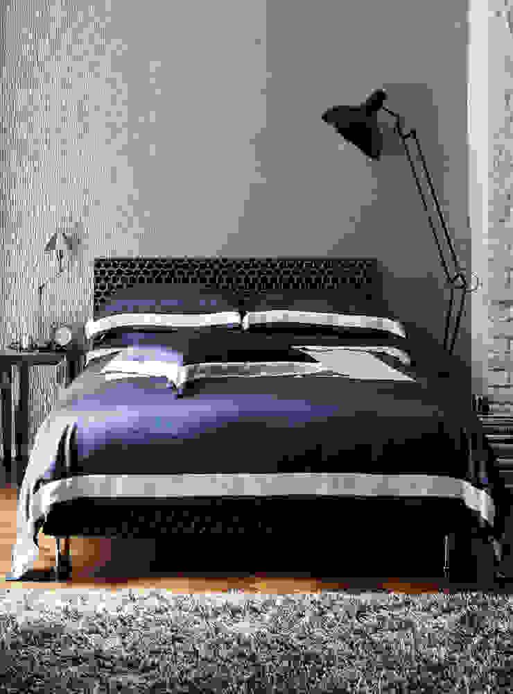 City Slate silk cotton bed linen: modern  by Gingerlily, Modern Silk Yellow