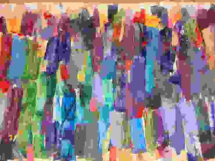 Multitud en colores de Adriana Filei Moderno Papel